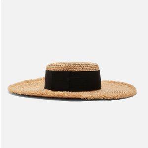 NWT's Zara Raffia Hat With Band